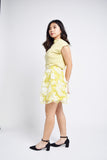 Gioda Yellow Florals Layered Skirt