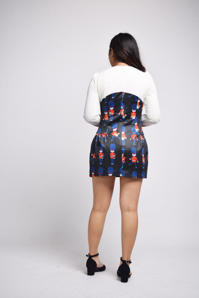 Hollace Soldiers Print Dress