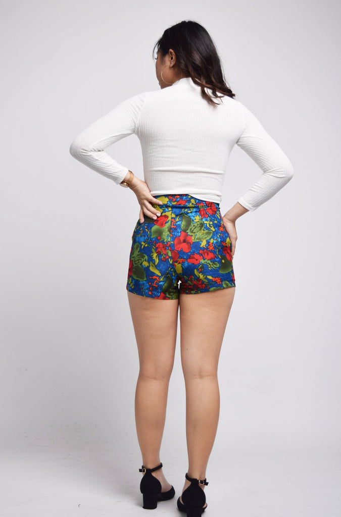 Ozelle Ocean Of Poppies Shorts