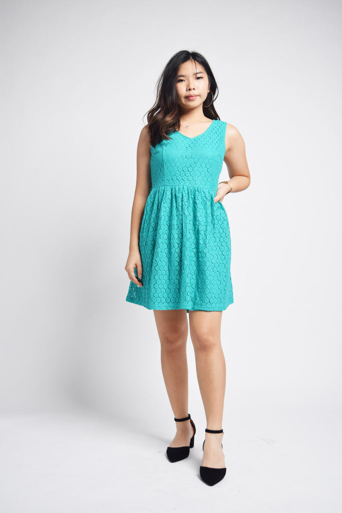Aithne A-Line Eyelet Lace Dress