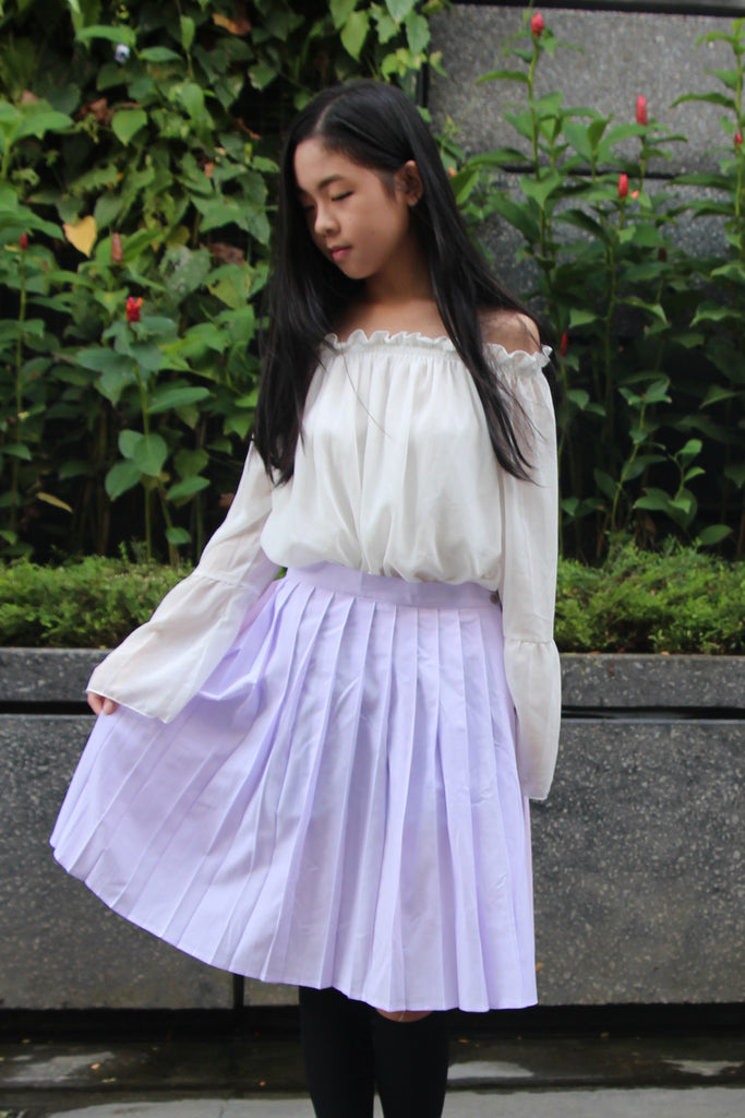 Laurentia Duotone Pastel Pleats Skirt