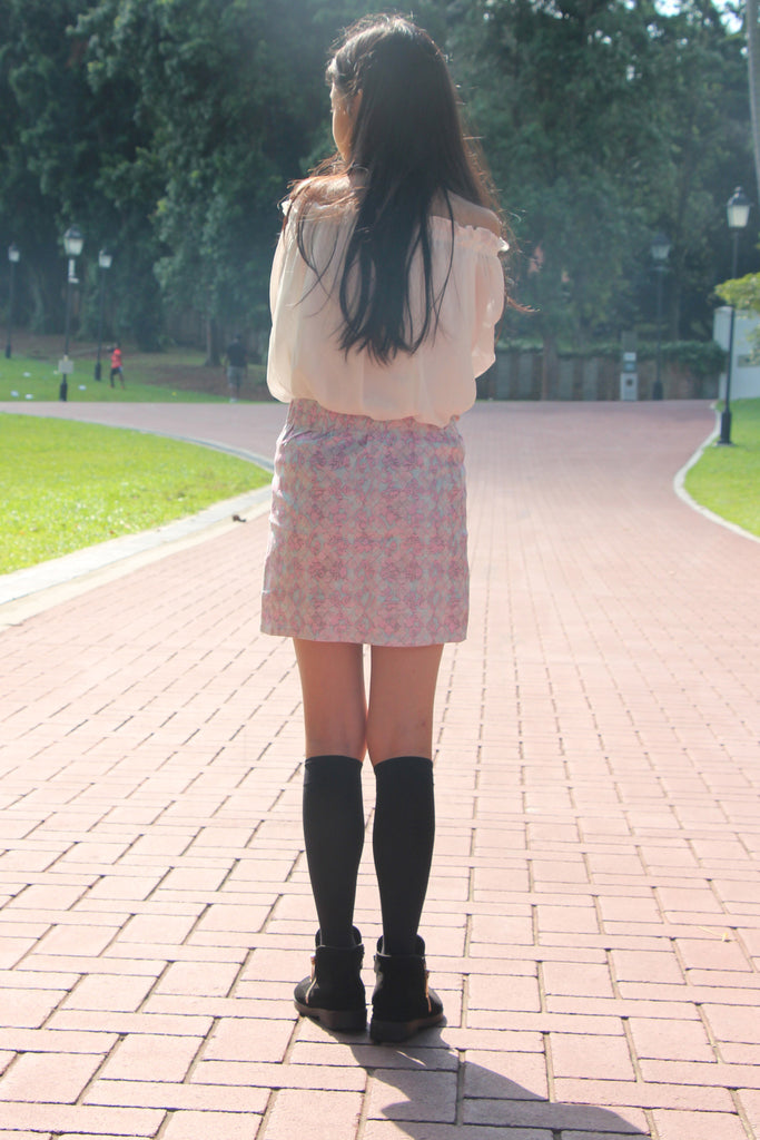 Antica Pastel Vines Skirt