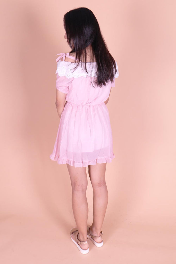 Azalea Girly Touches Cold Shoulder Dress