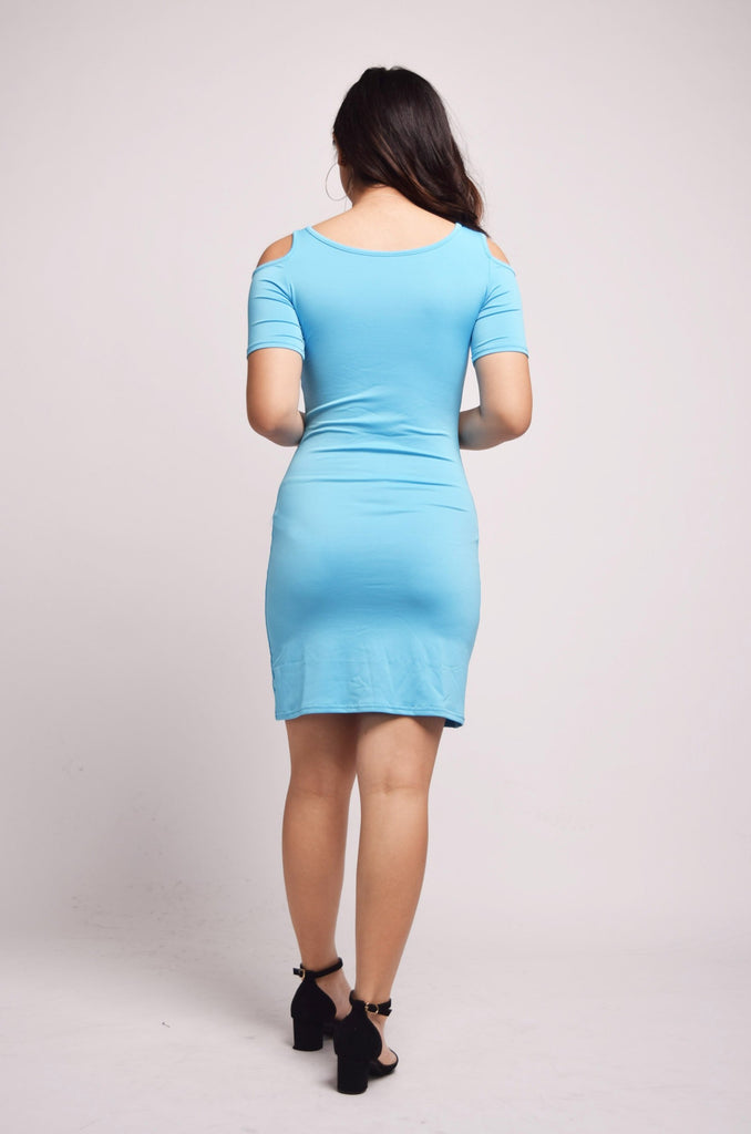 Kaitlynn Shoulder Cutouts Bodycon Dress
