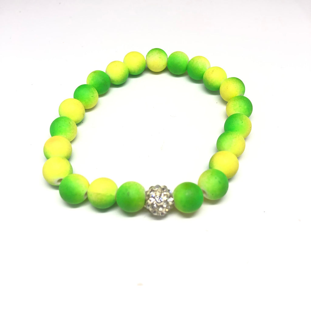 Malina Neon Green and Yellow Bracelet