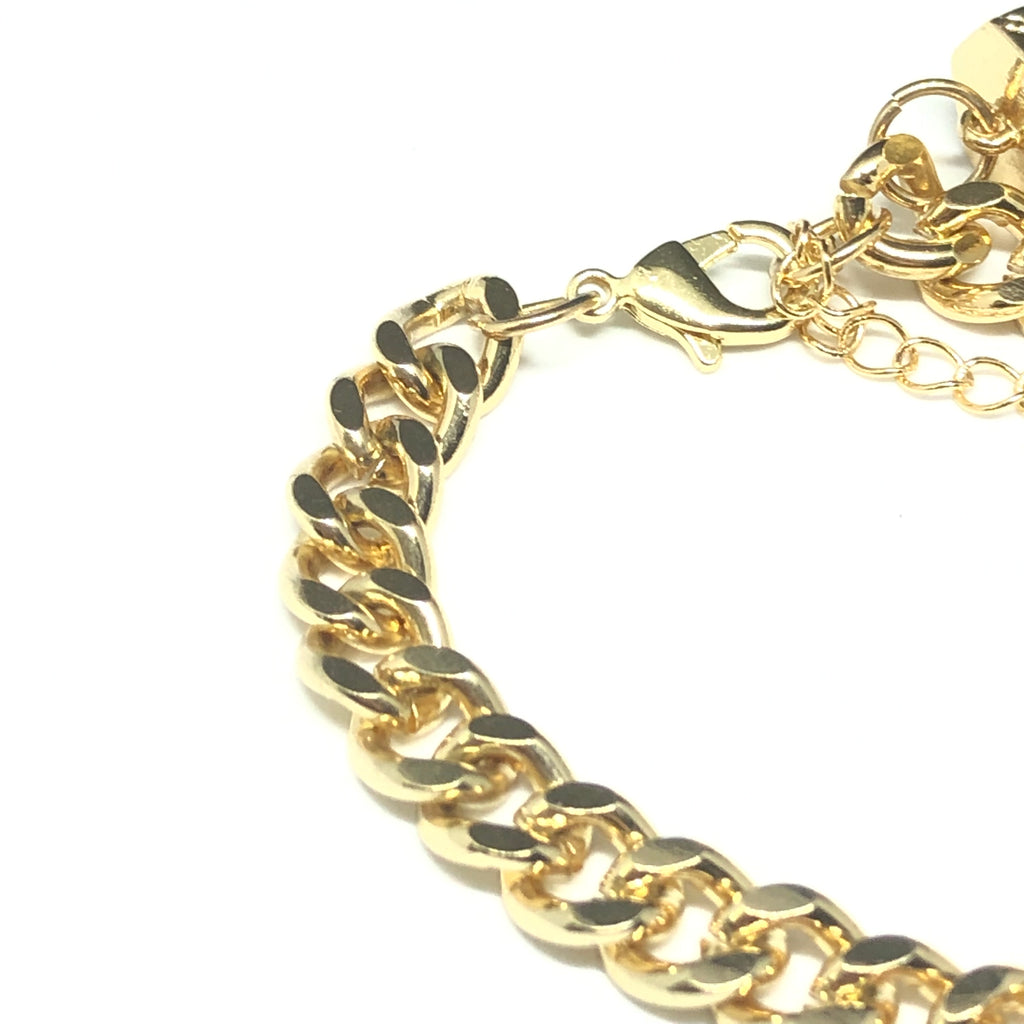 Omicron Crystal Chains Bracelet
