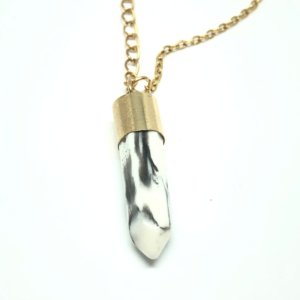 Missia Marble Bullet Point Necklace