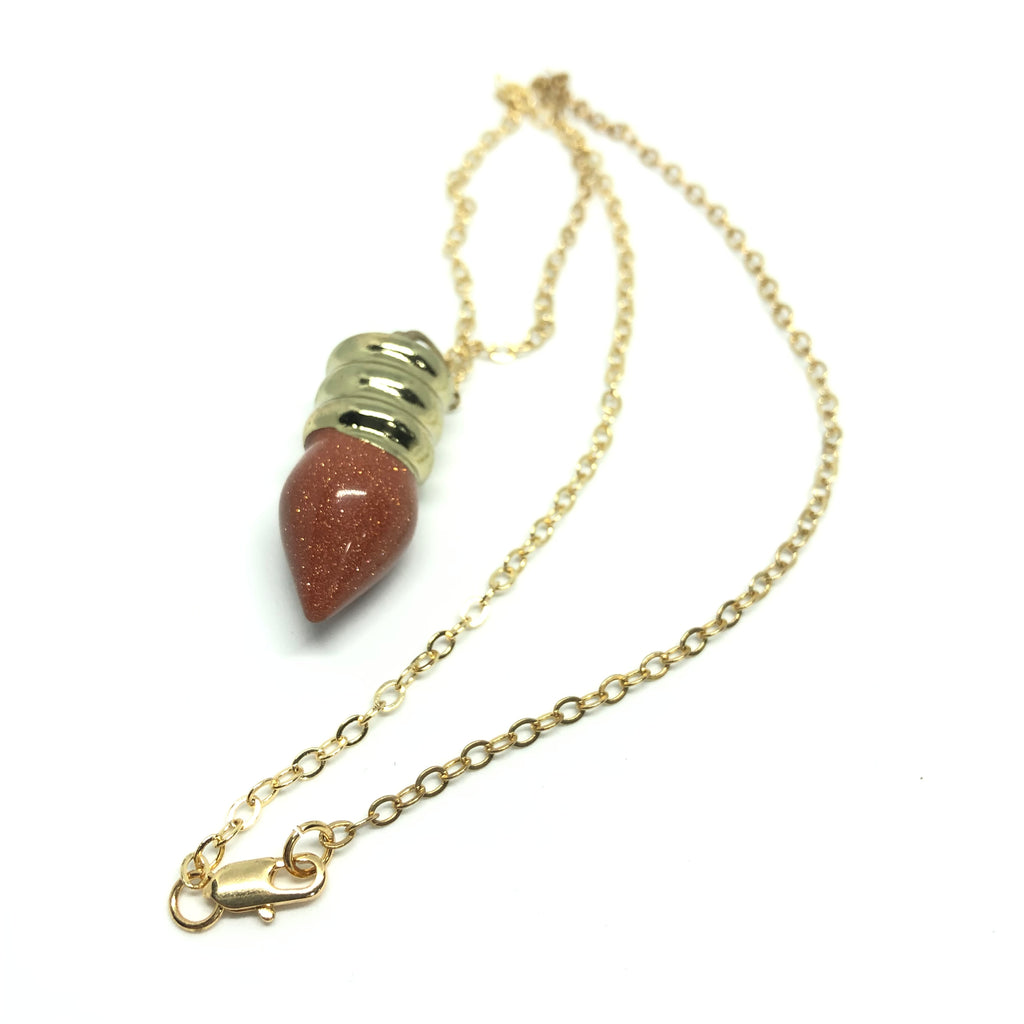 Paisie Reiki Bulb Necklace
