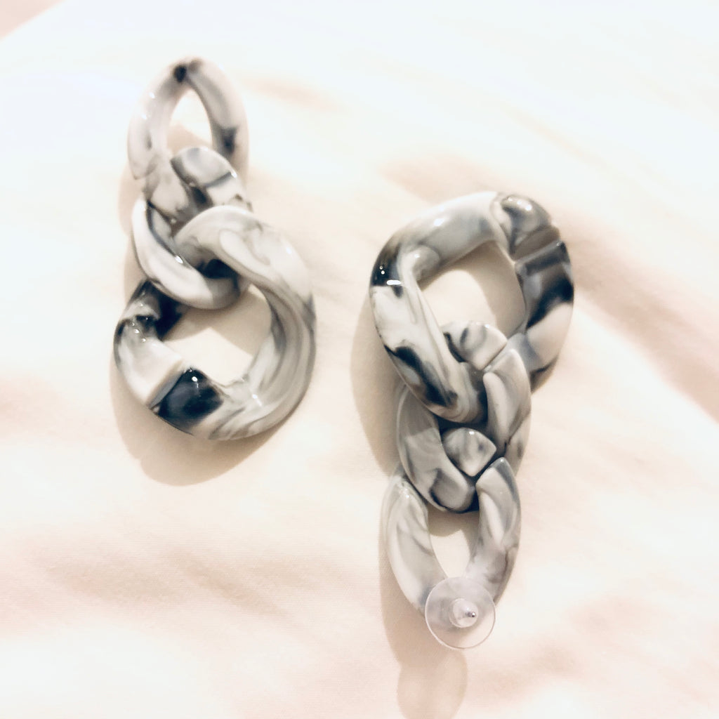 Giza Marble Chain Earrings