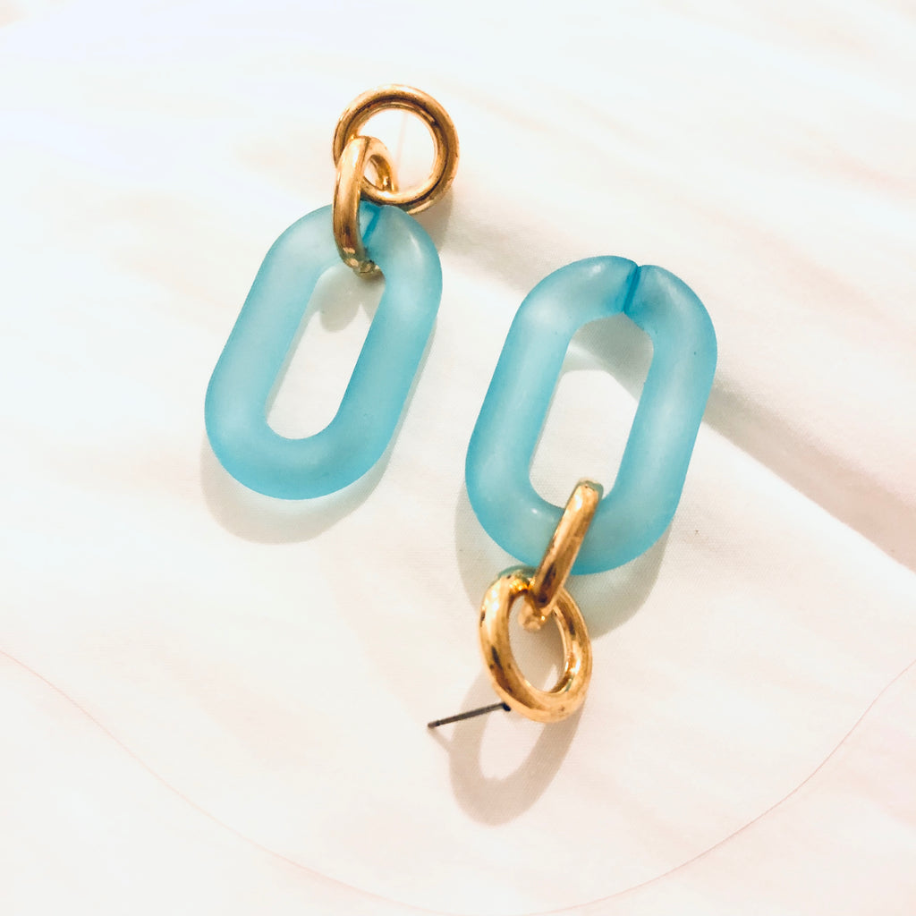 Poena Minimalist Chain Earrings