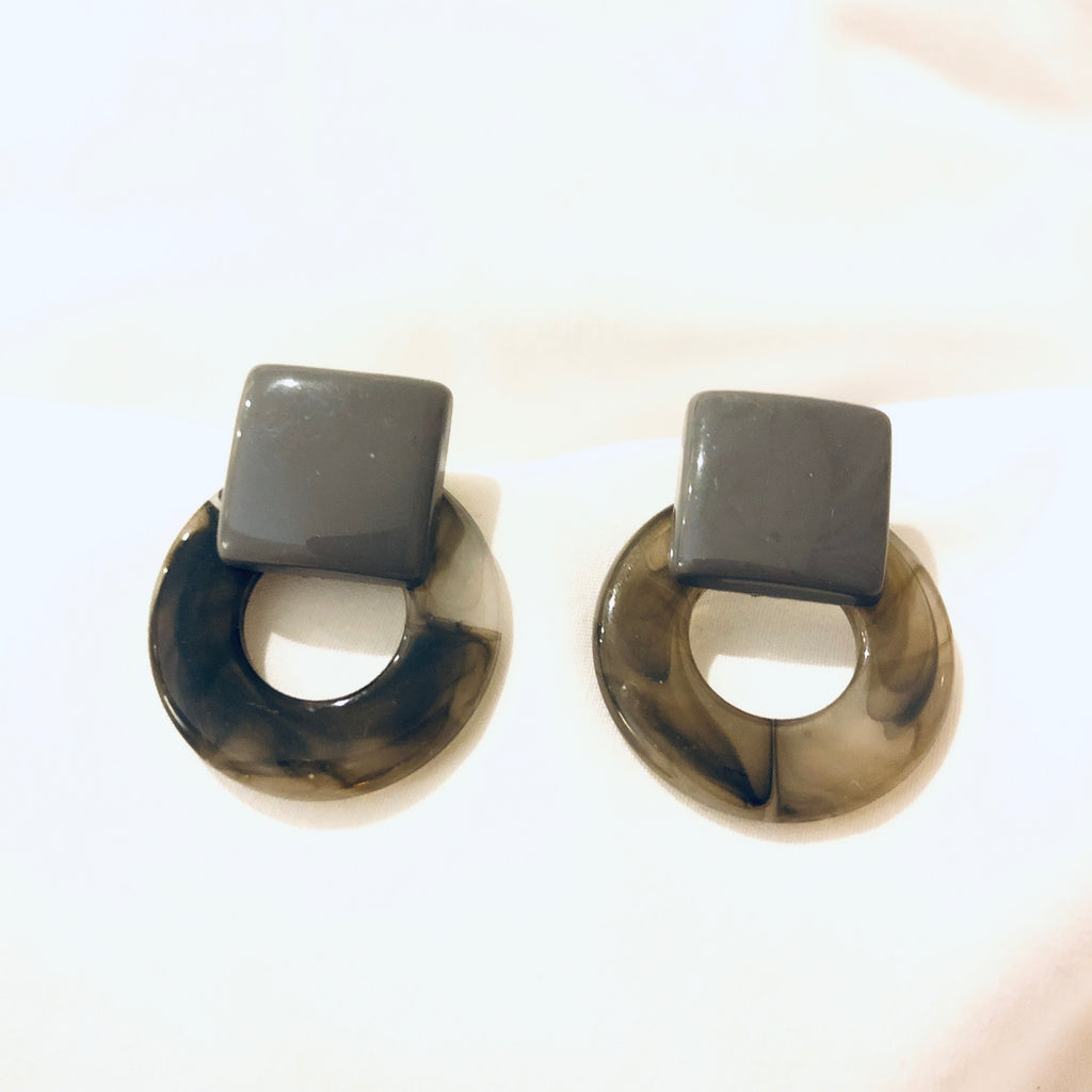 Sam Marble Circle Earrings