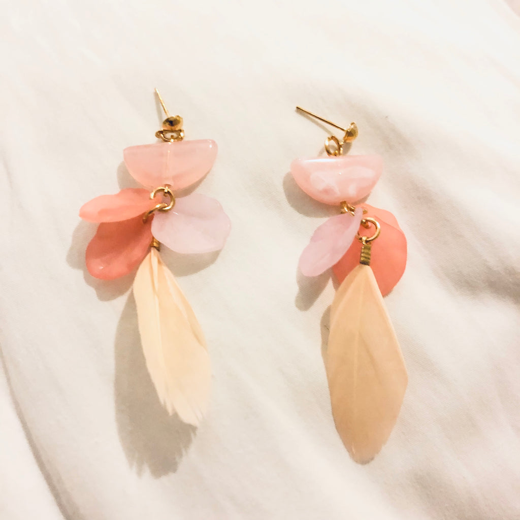 Yumiko Crystal Feather Earrings