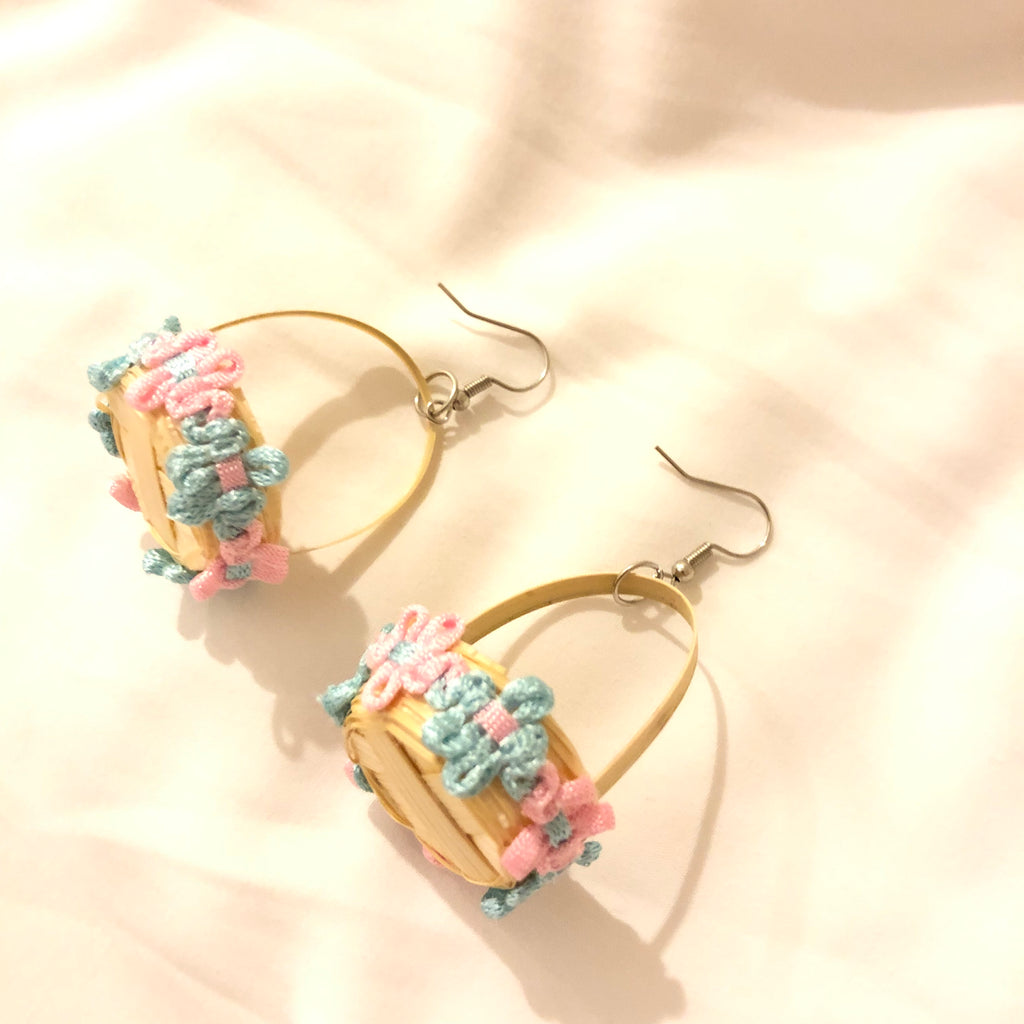 Voxelle Woven Basket Earrings