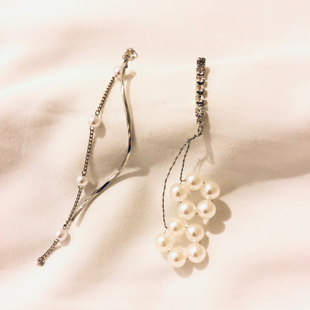 Elseryne Pearl Curve Branches Earrings