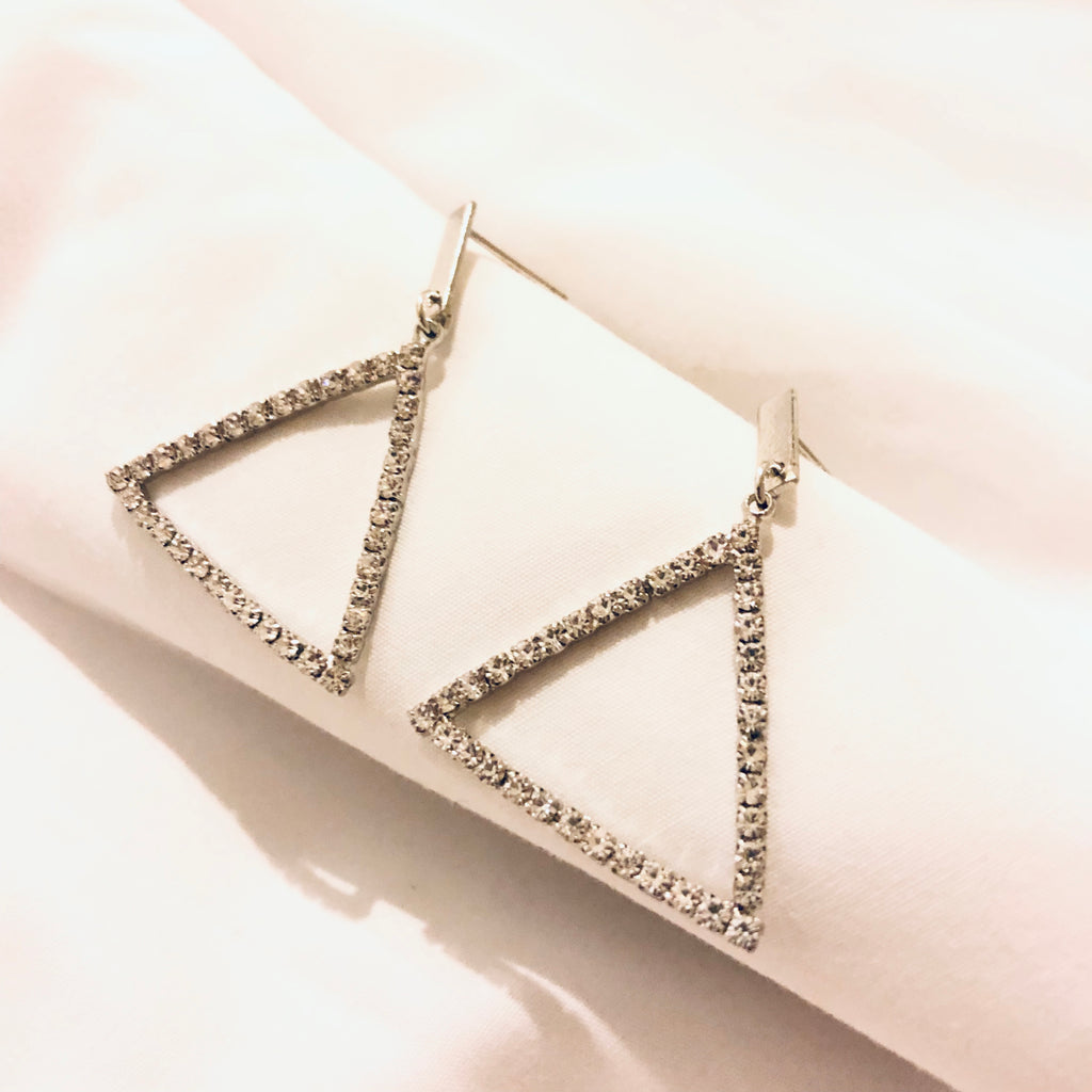 Heeren Gem Triangle Earrings