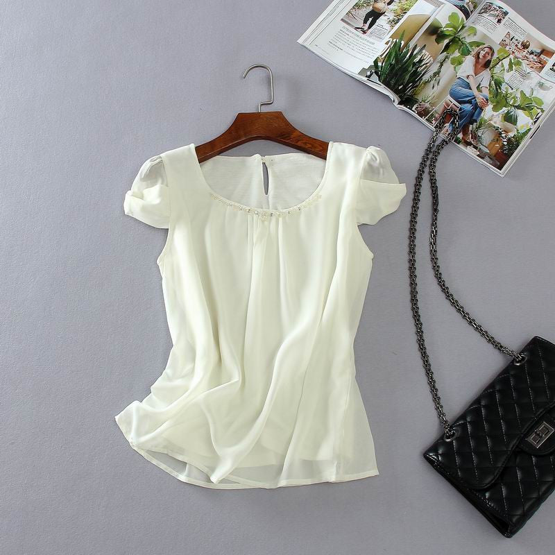 Prim&Proper Pearl Trim Blouse