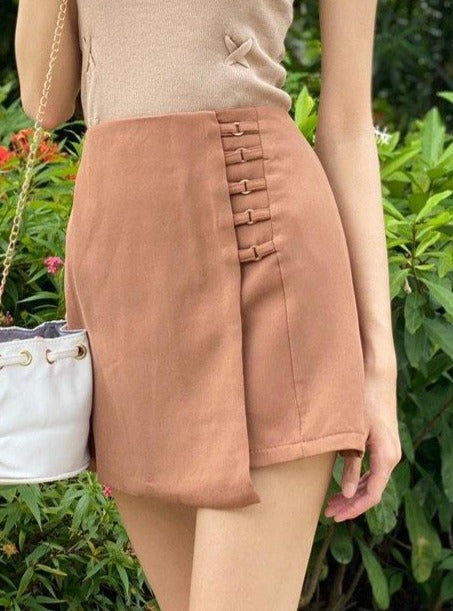 Wilmette Buckle And Belt Detail Skirt