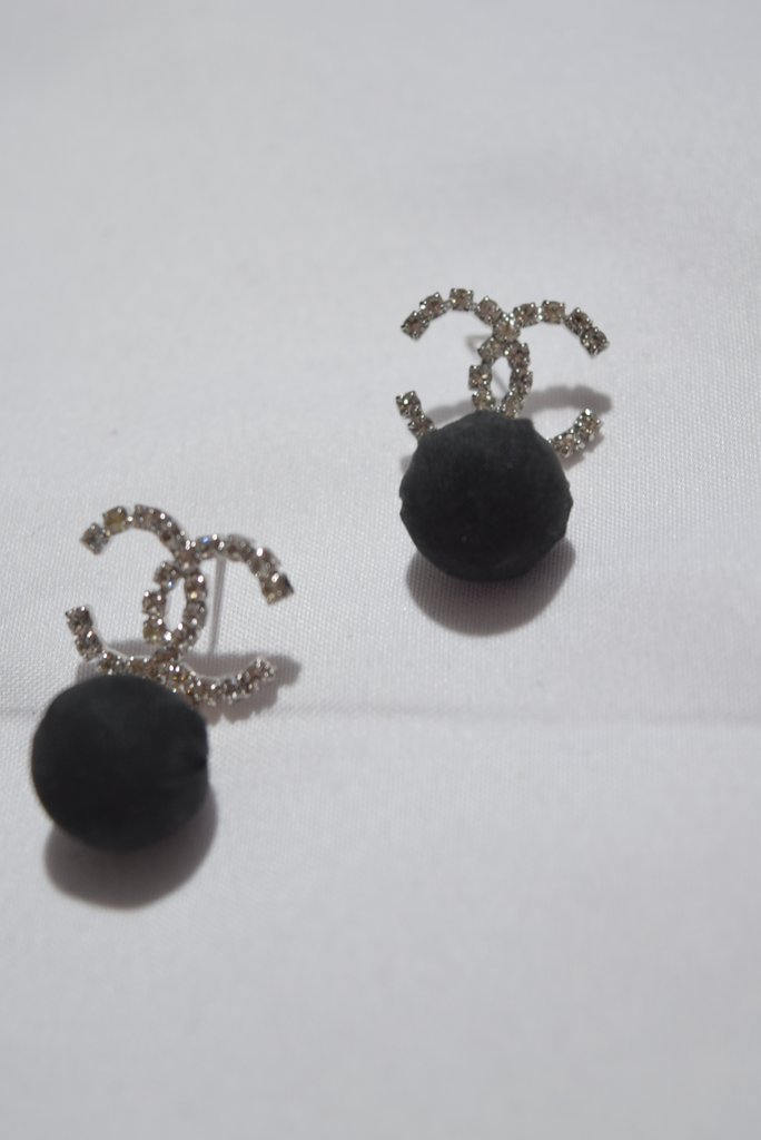 Persida Brand Charm Pompom Earrings