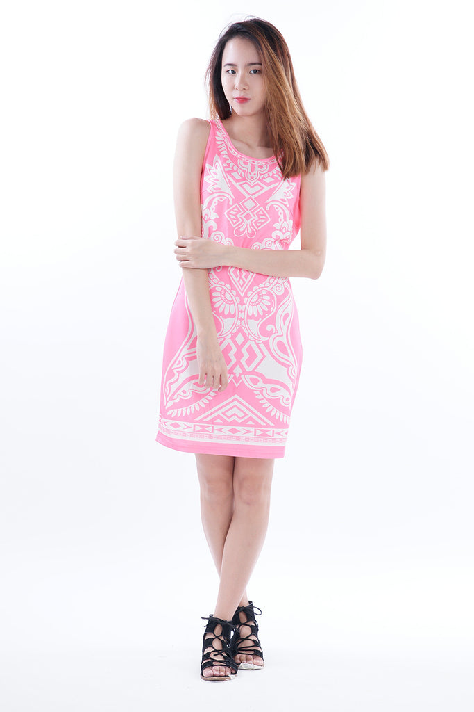 Cydia Patterned Perfect Bodycon Dress