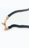 Delucca Nile Lotus Rope Statement Necklace