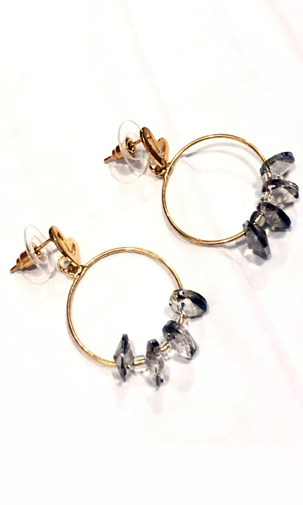 Olivera Circle and Oval Beads Earrings