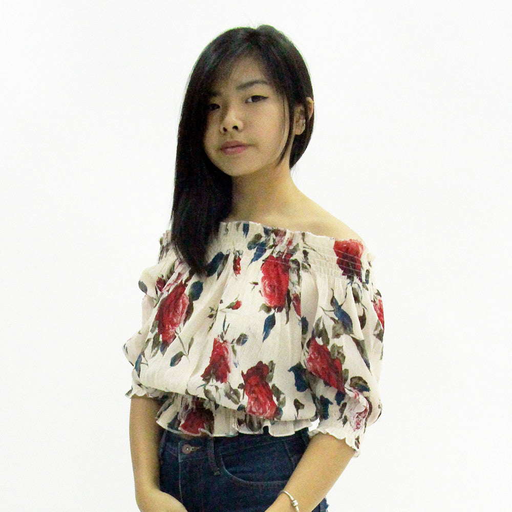 Tamara Rose Parade Offshoulder Top