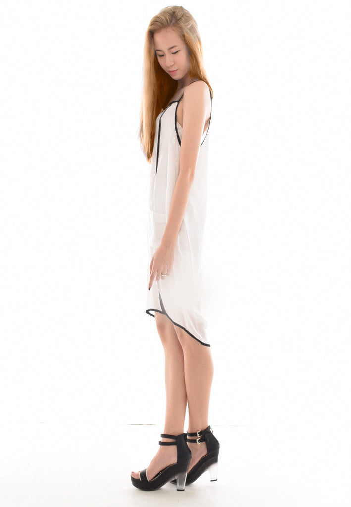 Shifted Around Linecut Shift Dress