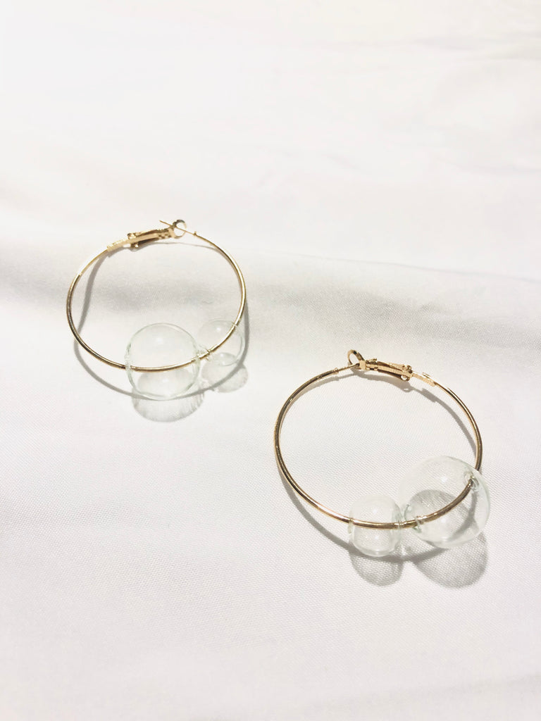 Cortana Acrylic Bubble Hoop Earrings