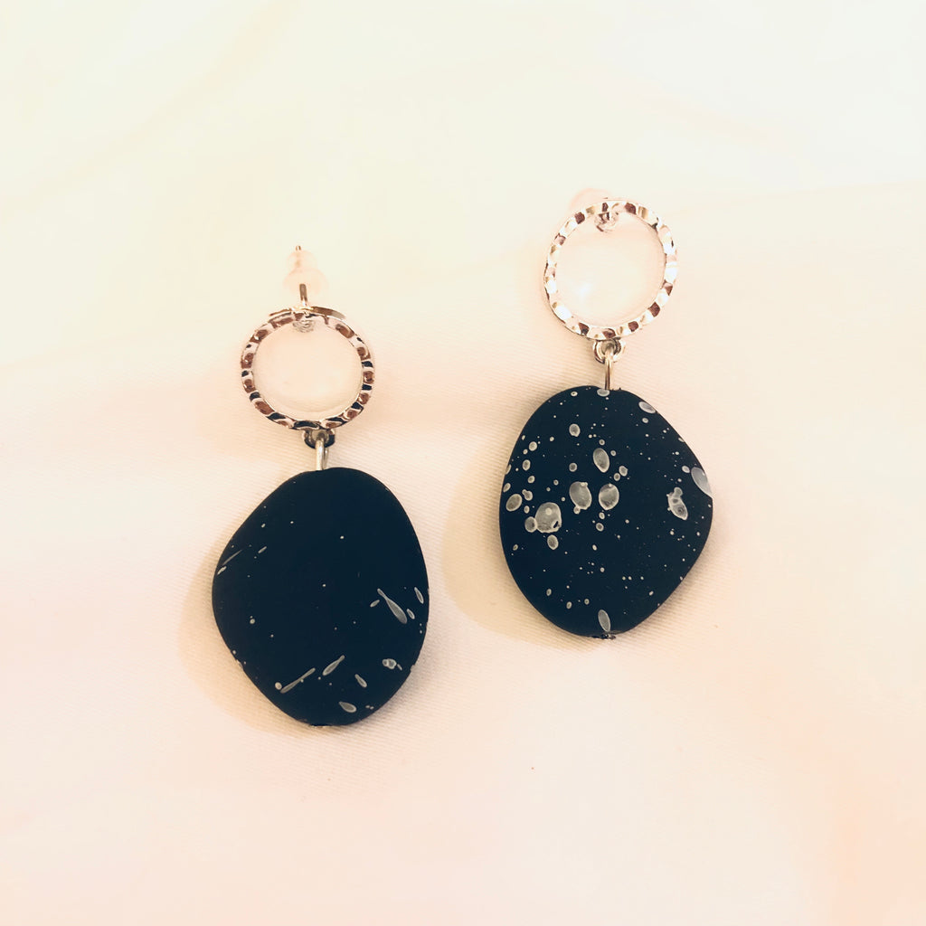 Undine Abstract Stone Earrings