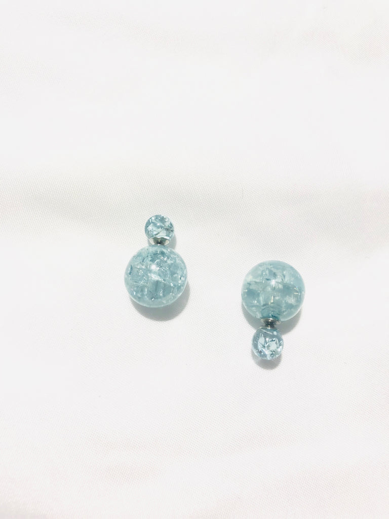 Giola Crackle Globe Earrings