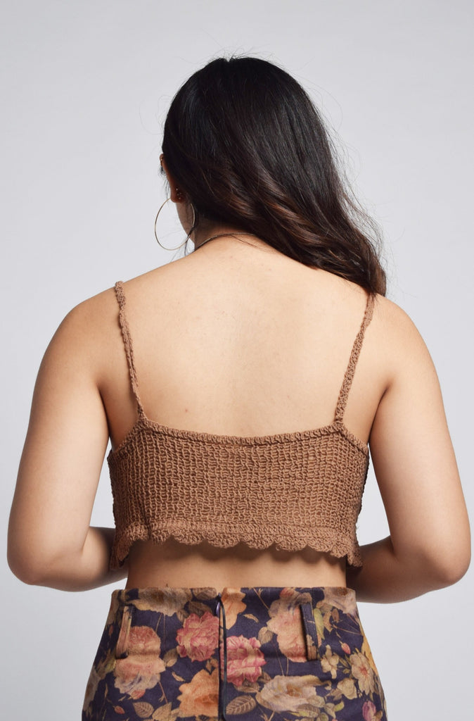 Eitana Crochet Holiday Bustier Crop Top