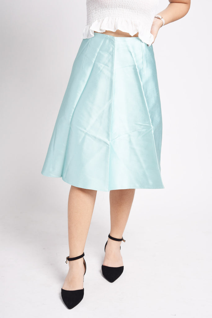 Damiza Smooth Satin Midi Skirt