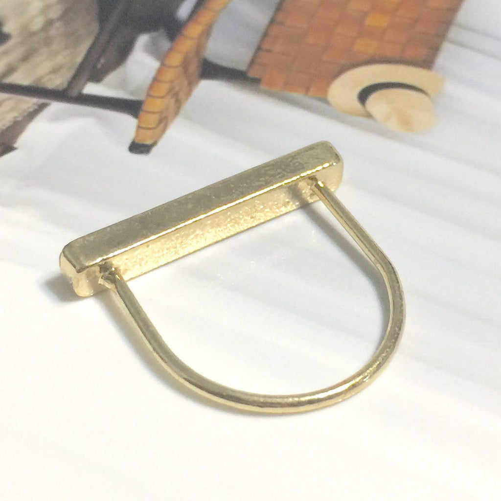 Essenza Thin Marble Bar Ring