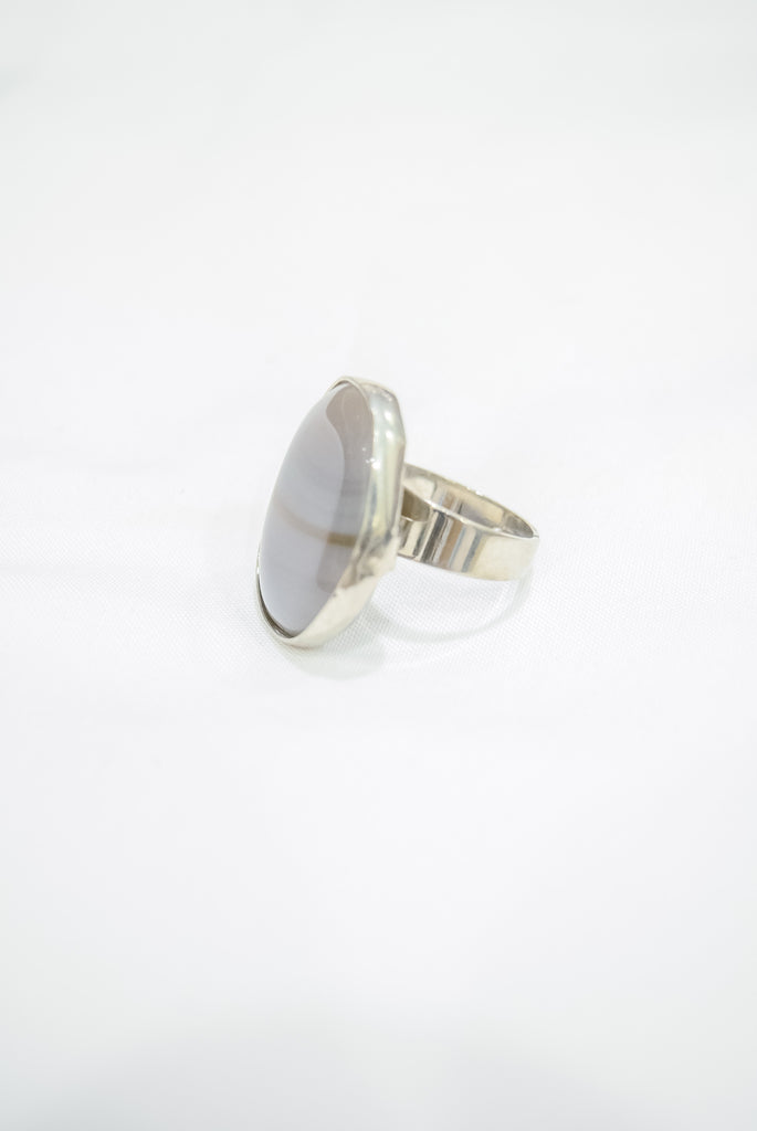 Sage Layered Agate Ring