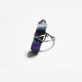 Arkara Cross Point Ring in Fluorite