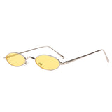U069 Yellow Oval Sunglasses
