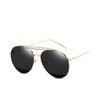 U007 Black Gold Aviator Sunglasses