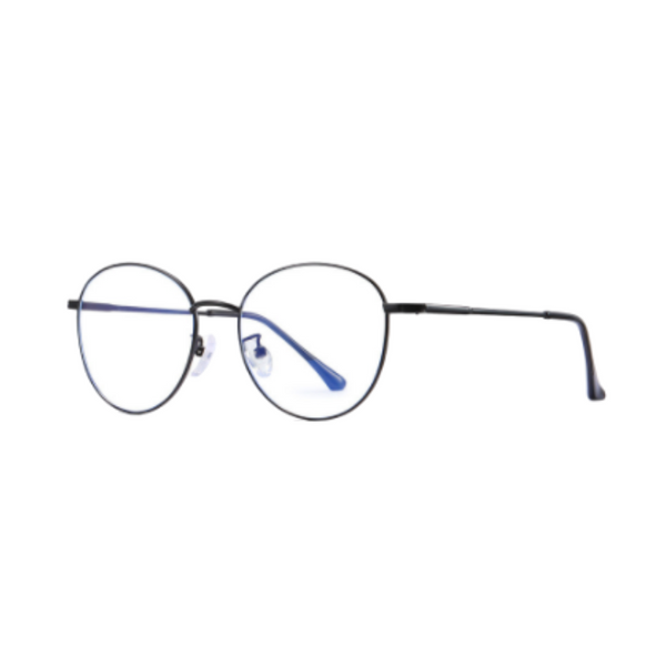 Z012 Black Round Anti Blue Light Glasses