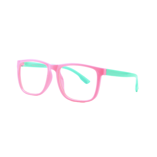 BK003 Pink Anti Blue Light Kids Glasses