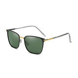 U014 Green Gold Polarized Square Sunglasses