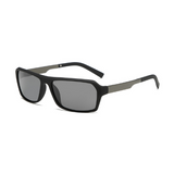 N078 Polarized Black Rectangle Sunglasses