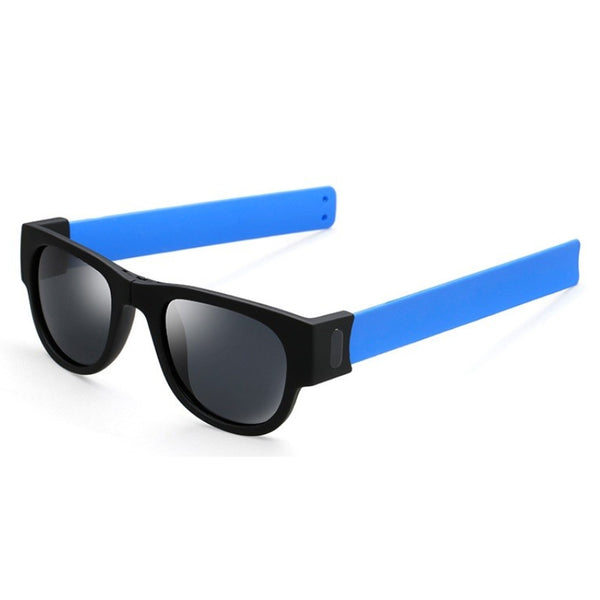 M018 Black Blue Foldable Sunglasses