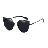 W034 Black Cat Eye Sunglasses