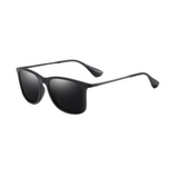 N076 Polarized Black Square Sunglasses
