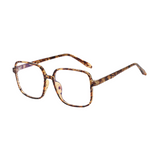 Z018 Brown Square Anti Blue Light Glasses