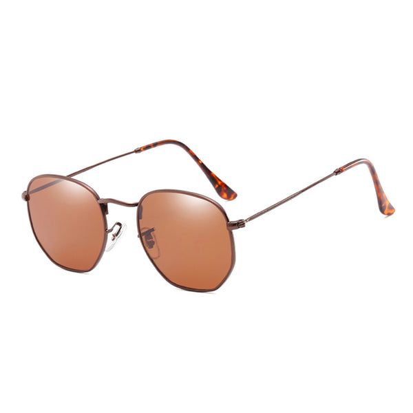 U030 Brown Hexa Sunglasses