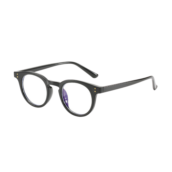 Z021 Black Round Anti Blue Light Glasses