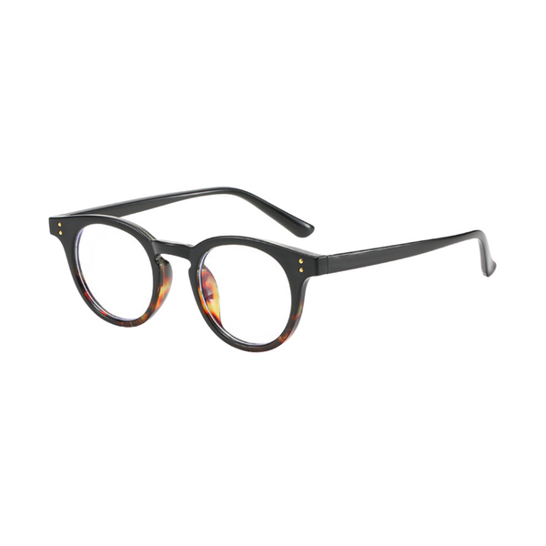 Z022 Brown Round Anti Blue Light Glasses