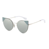 W035 Silver Cat Eye Sunglasses