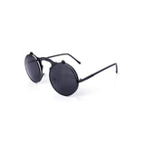 U015 Black Vintage Sunglasses